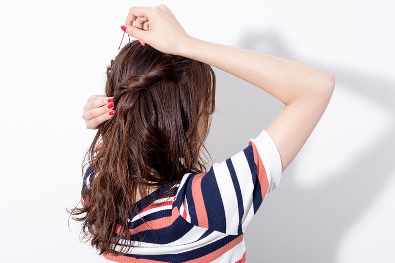 3ステップで簡単かわいい!リーゼント風アップヘア