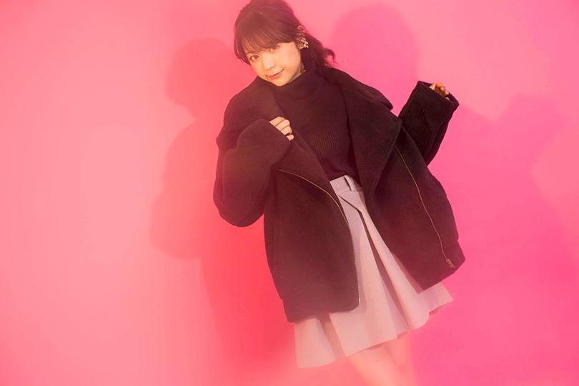 斎藤みらいが着こなす♡ どんなアイテムとも合わせやすいボックススカート