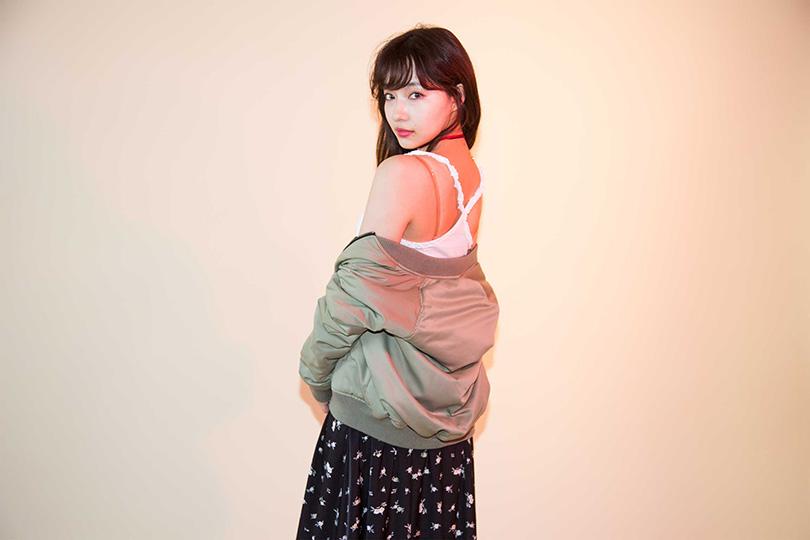 リバーシブルで使える♡ NMB48村瀬紗英が着こなすブルゾンアウター