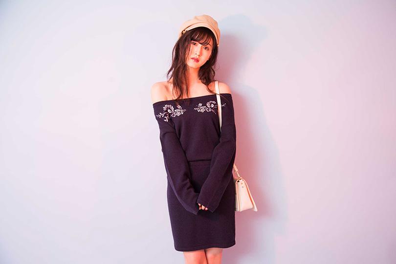 デートもショッピングにも♡ 阿部菜渚美が着まわす刺繍セットアップ