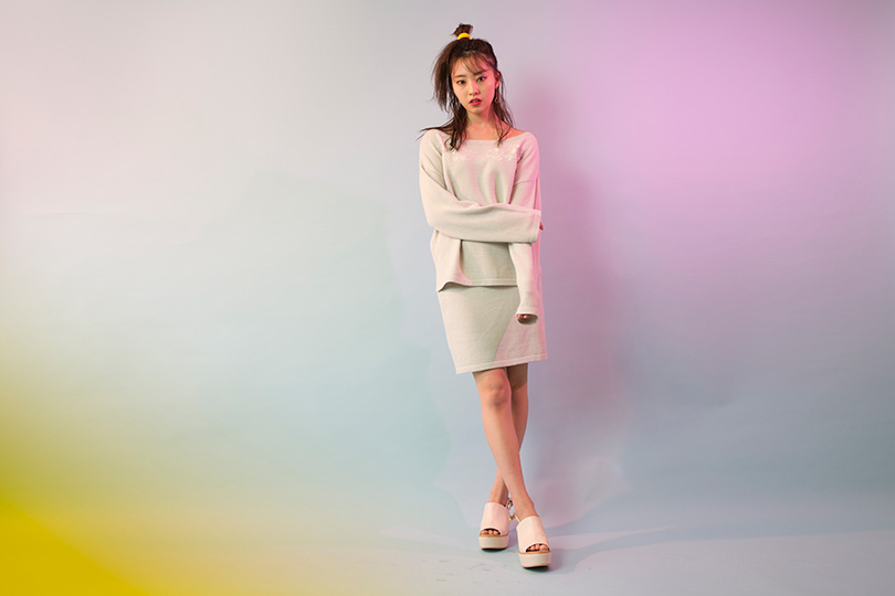 NMB48藤江れいなが着こなす♡ 春まで着まわせる刺繍入りセットアップ