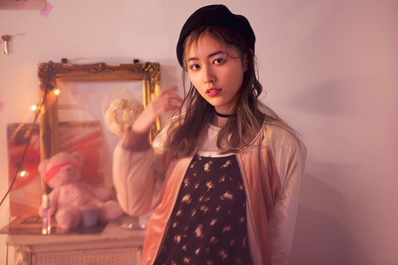 SKE48松井珠理奈が着る♡ スタジャンが主役の甘辛ミックススタイル