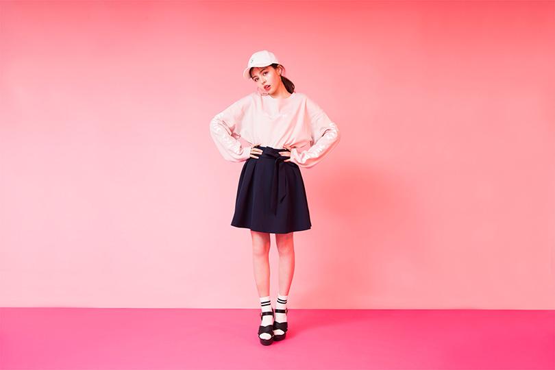 加藤ナナが着まわす♡ リボン付きフレアスカートをテイスト別にご紹介