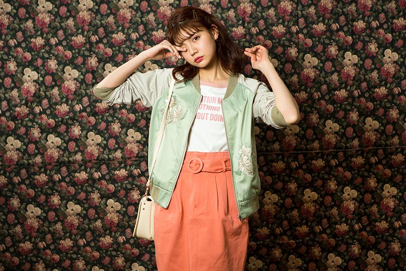 村田倫子が着まわす! コーデに合わせて楽しめるリバーシブル刺繍ブルゾン