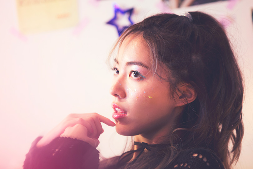 SKE48松井珠理奈が着回す♪ クロシェニットのセットアップ