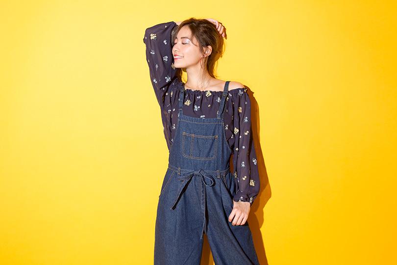 SKE48松井珠理奈が着こなす♡ 春のトレンドコーデを叶えるデニムサロペット