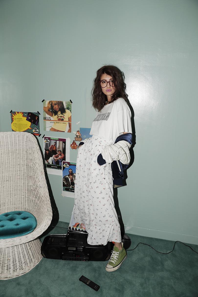 マギーが着る、ISKOの美脚ハイウエストスキニーデニム