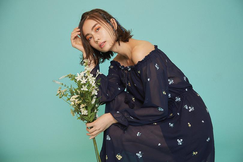 Lalaことローレン・サイが着こなす♡ロマンティックな花柄マキシワンピース