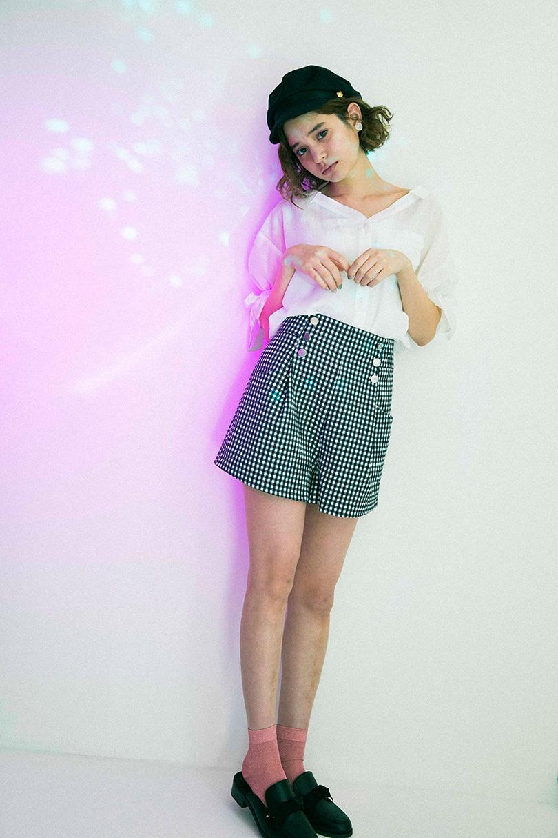 トレンドのスキッパーシャツ、瑛茉ジャスミン流に着こなしてみました♡