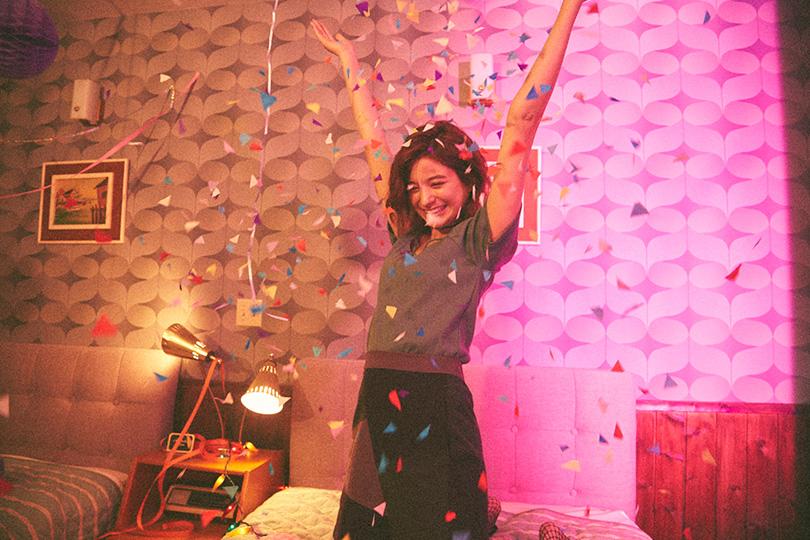 瑛茉ジャスミンが全色見せ♡パッチワークスカート