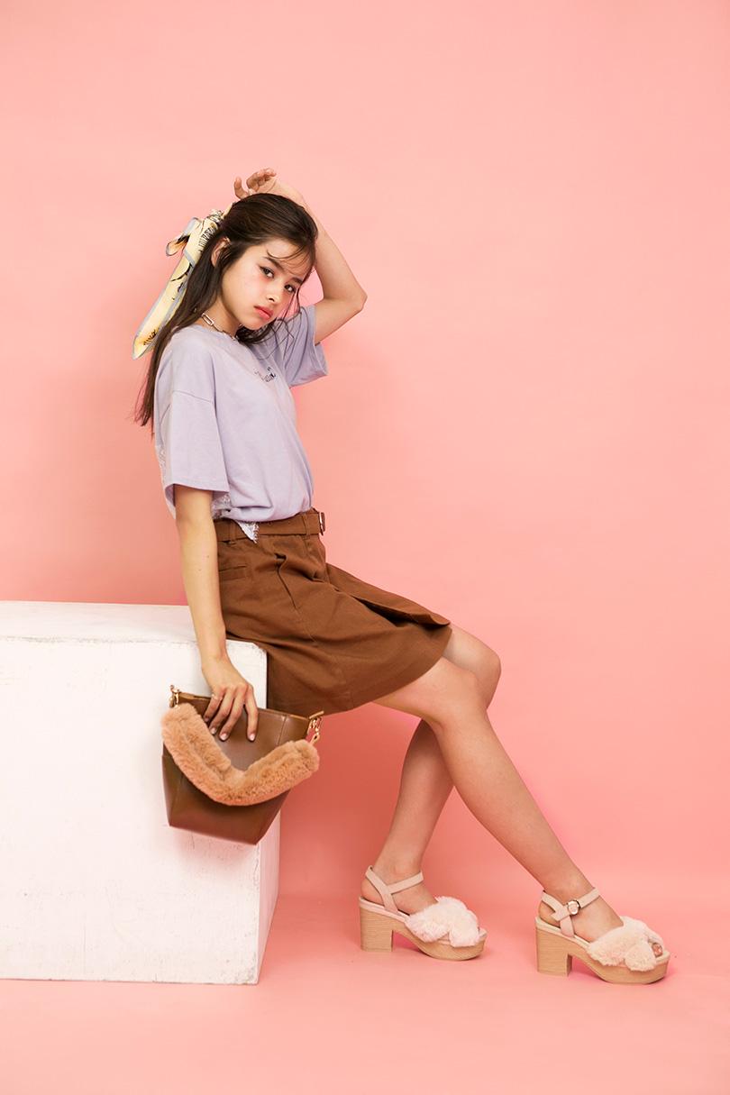 ハーヴィー瑛美が全色着こなし♡バックレースTでつくるガーリーなサマースタイル
