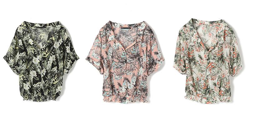 甘すぎない柄で個性をアピール♡1枚でおしゃれにキマる新作柄シャツをヘザースタッフが着まわし
