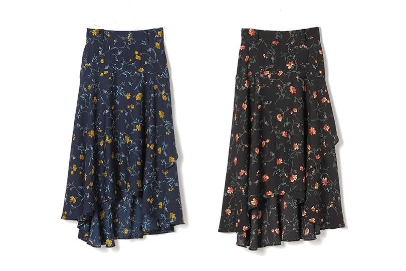 スラっとした美脚をかなえる♡ロマンティックなミディ丈フレアスカートでつくる3コーデ