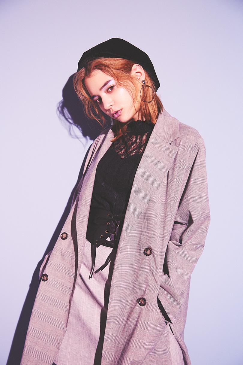 瑛茉ジャスミンが着る、チェックセットアップ♡