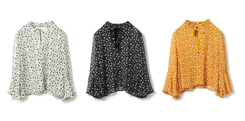 夏焼雅が着まわし♡小花柄シャツをレトロレディにスタイリングする秘訣