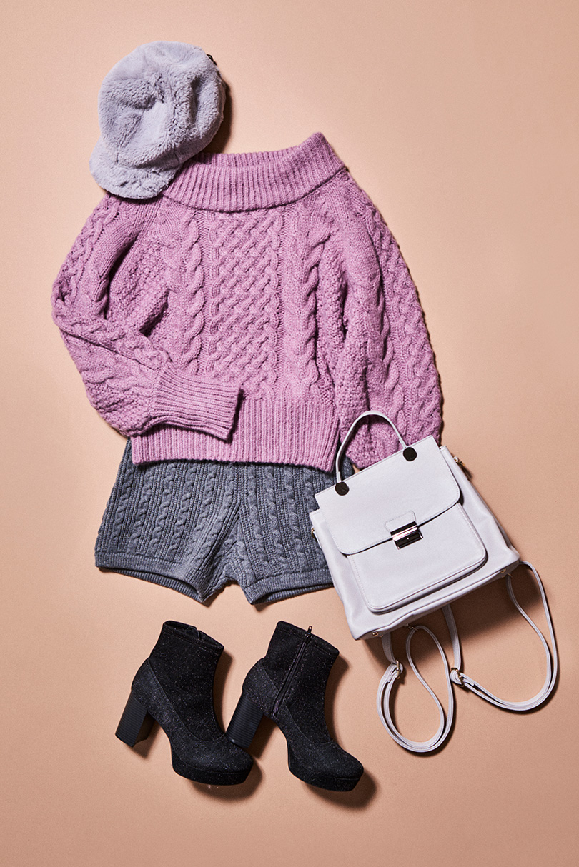 編み目のざっくり感がたまらない♡あったかケーブルニット全色見せ