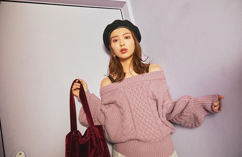 内田理央vol.2♡チュールスカートで作る冬のモテコーデ
