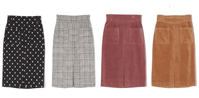 大人カジュアルにぴったり♡ カラバリ豊富なIラインスカート