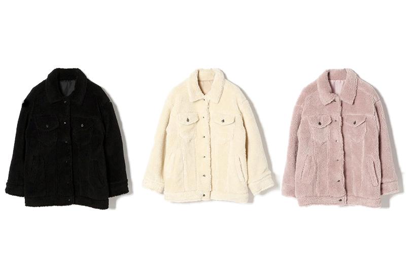 テディベア風♡ モコモコ可愛いボアジャケットを着こなし