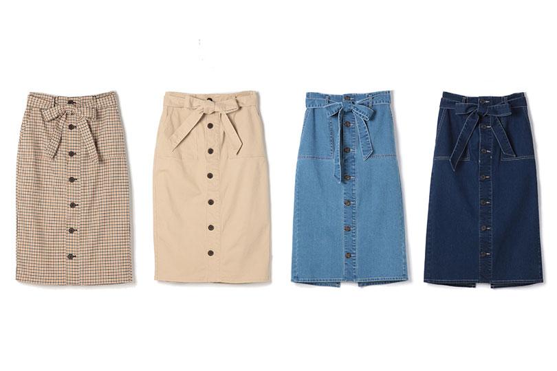 レトロ可愛い♡マルチWAYタイトスカートで、普段コーデもおしゃれ見え!