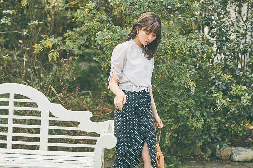 八木アリサvol.8♡ 今季注目柄も◎なリバーシブルスカート