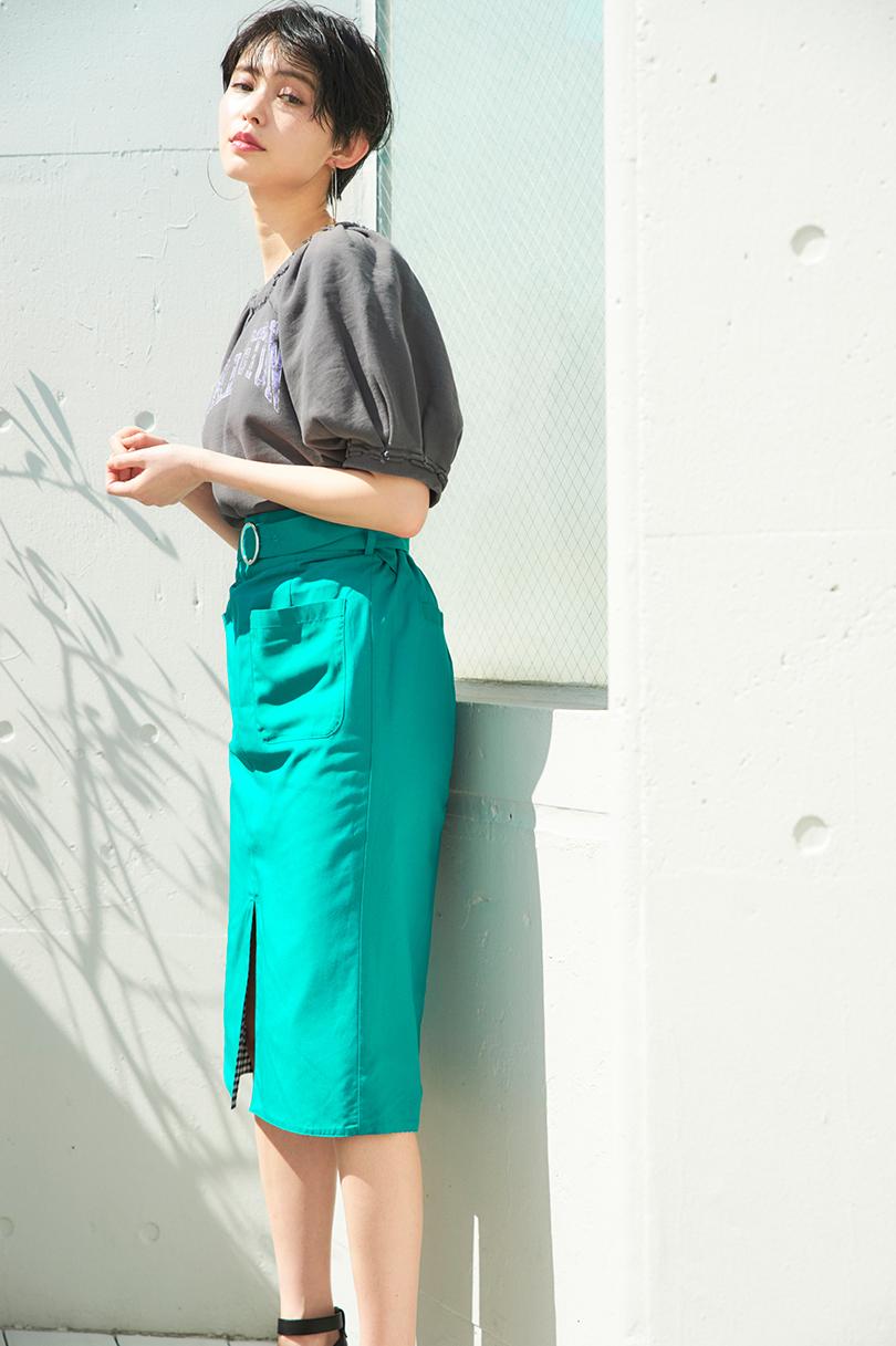 比留川游が着まわし♡ 大人っぽく見られたい日のマルチWAYスカートコーデ